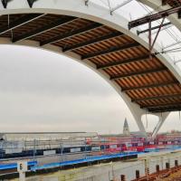 De werfzone voor het nieuwe station in Mechelen