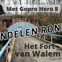 Met Gopro Hero 8 Black rondom het Fort van Walem