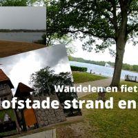 Wandelen en fietsen door Hofstade Strand en sport
